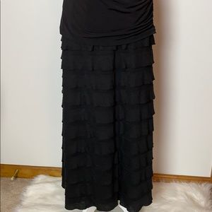 Max Studio Maxi Tiered Fold Over Skirt Size M